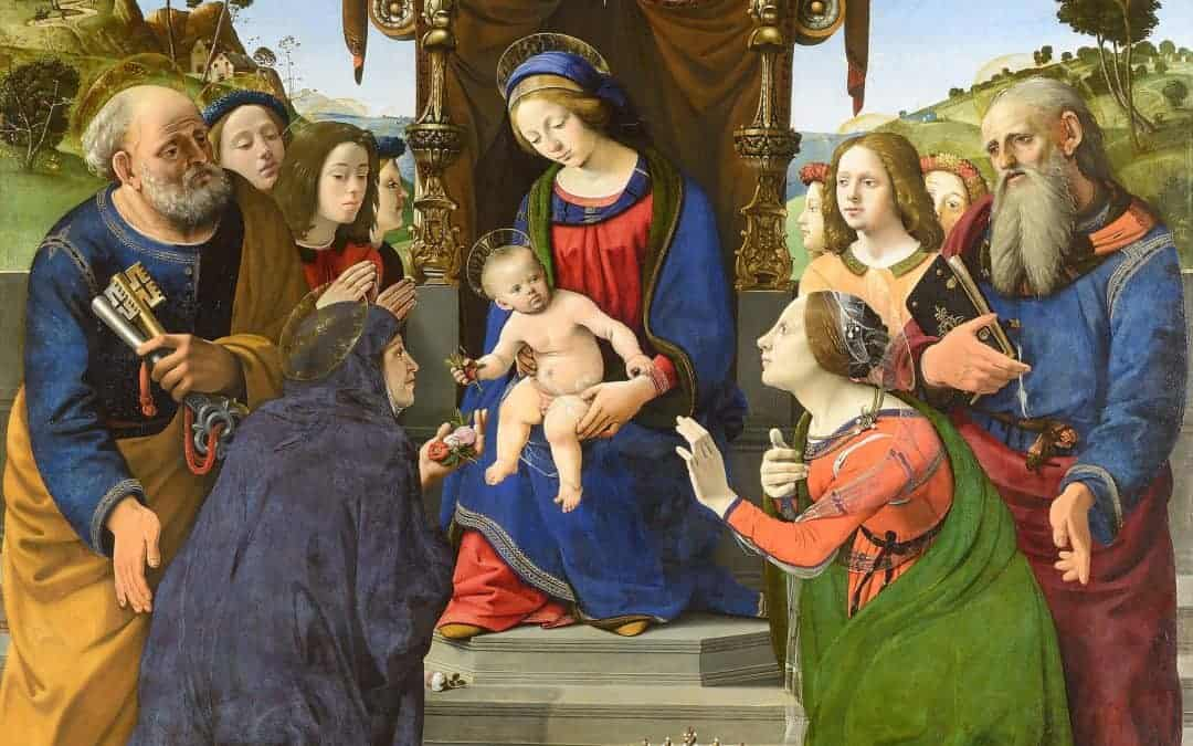 Madonna_and_Child_Enthroned_with_Saints_Piero_di_Cosimo-image